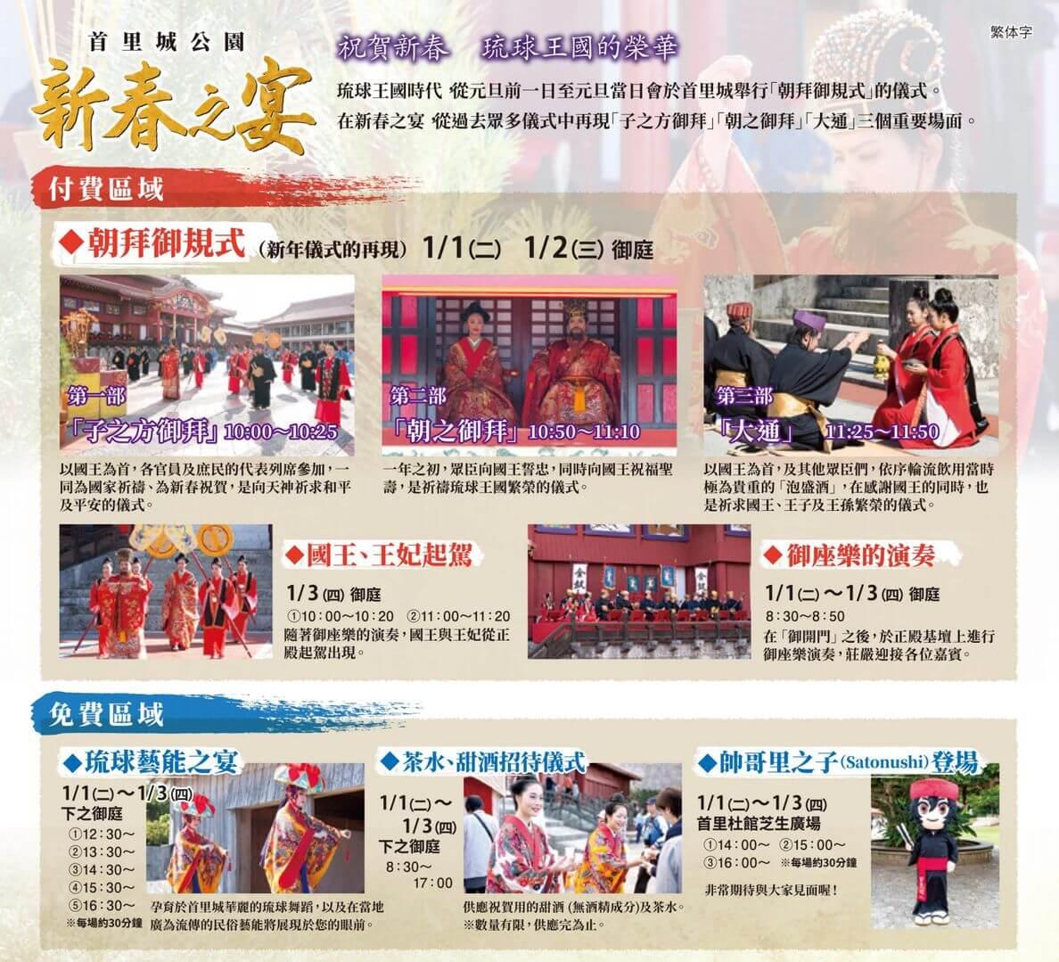 沖繩祭典、活動-首里城公園新春之宴活動內容