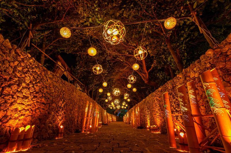 沖繩祭典、活動-體驗王國MURASAKI MURA琉球燈會