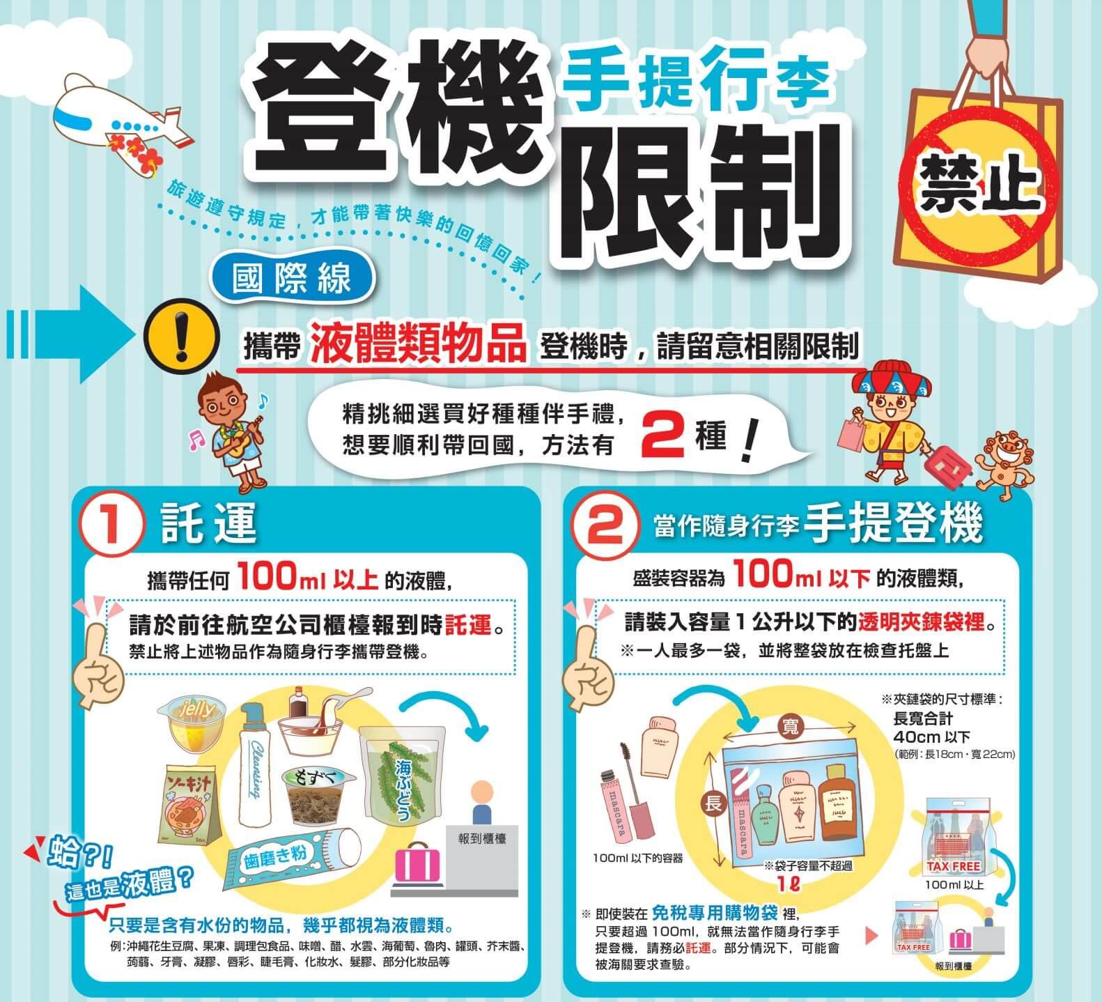 沖繩行前準備-手提行李登機限制
