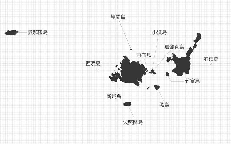 沖繩離島地圖-八重山群島