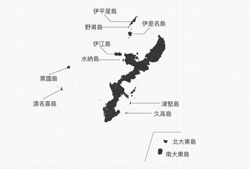 沖繩離島地圖-沖繩本島鄰近離島