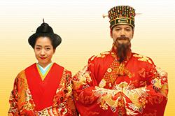 首里城公園-新春之宴-國王、王妃登場