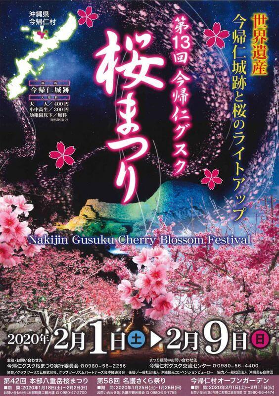 沖繩祭典、活動-今歸仁城櫻花祭