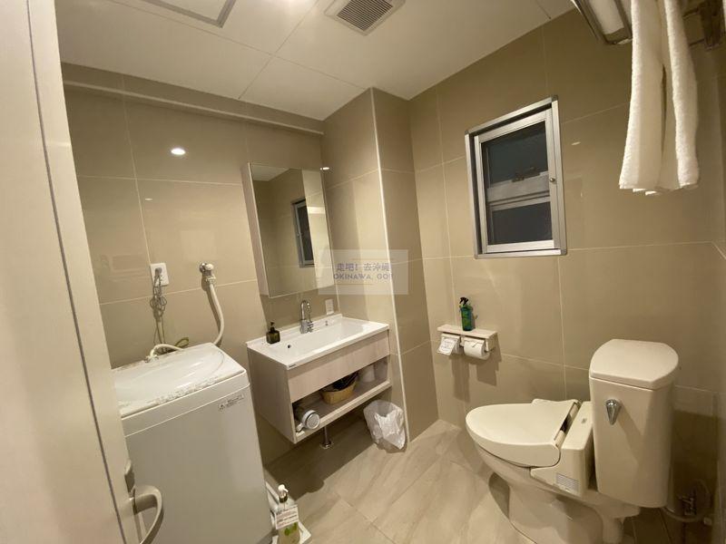 Wisteria公寓度假村-廁所、洗衣機