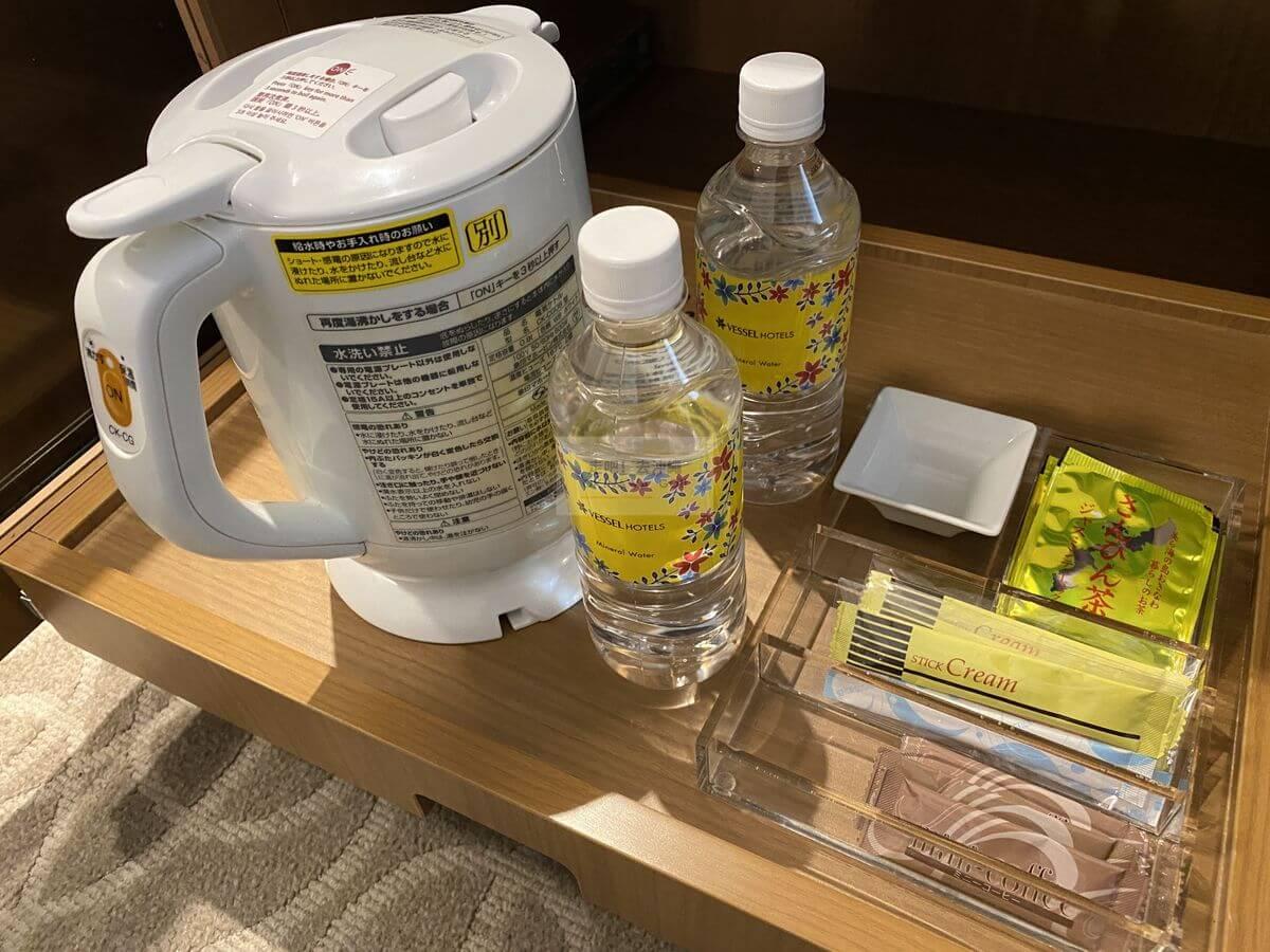 Vessel Hotel Campana Okinawa飯店開箱評價-水及熱水壺