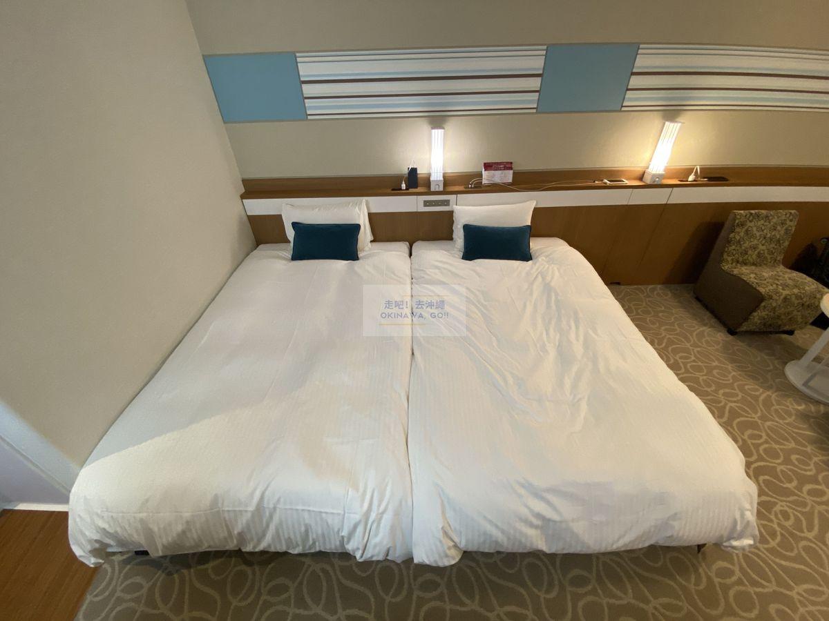 Vessel Hotel Campana Okinawa飯店開箱評價-併床