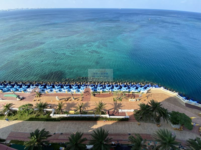Vessel Hotel Campana Okinawa-陽台無敵海景